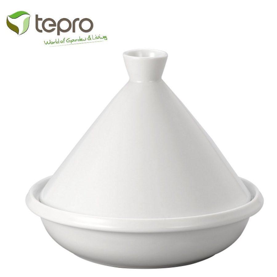 Tepro 8340 Geglazuurde Tajine Wit 35 cm