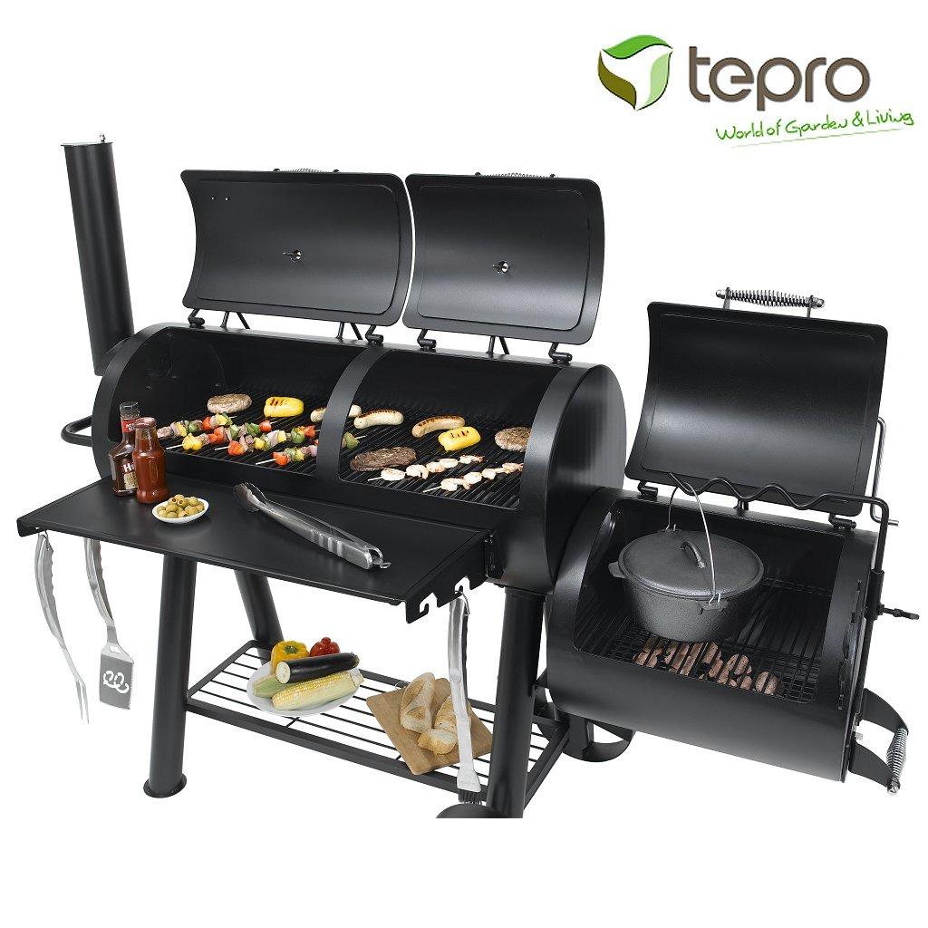 Tepro Indianapolis Massieve Houtskool Smoker Barbecue