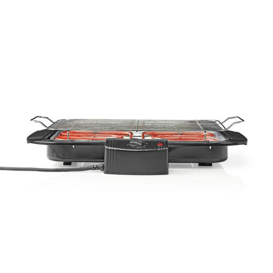 Nedis BBQE110BK Elektrische Barbecue Rechthoekig 38 X 22 Cm 2000 W
